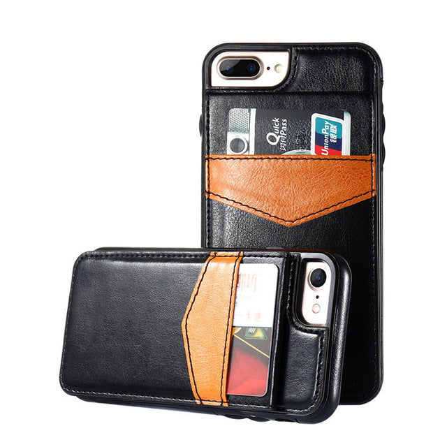 vertical wallet card phone case for iphone 7 6s 6 8 x doly store