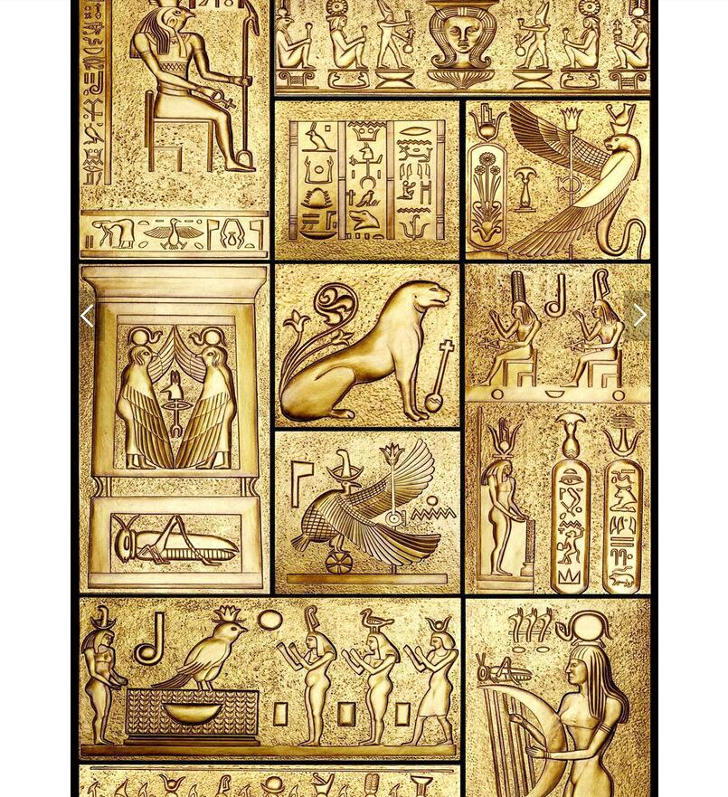 3d Art Ancient Egyptian Wall Painting Canvas – DOLY STORE
