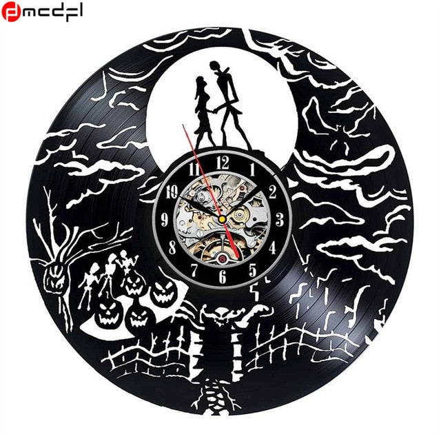 home decor the nightmare before christmas design vinyl wall clock - Nightmare Before Christmas Clock