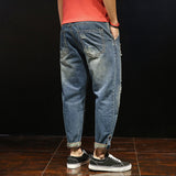 Pantaloni moderni barbatesti, casual, din denim, model tip jeans