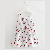 Girls Clothing Summer Girl Dress Children Kids Berry Dress Back V Dress Girls Cotton Kids Vest dress