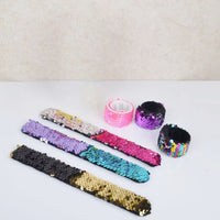 1PC Magic Reversible Mermaid Sequin Slap Bracelets Birthday Party Favors Supplies Gifts for Girls