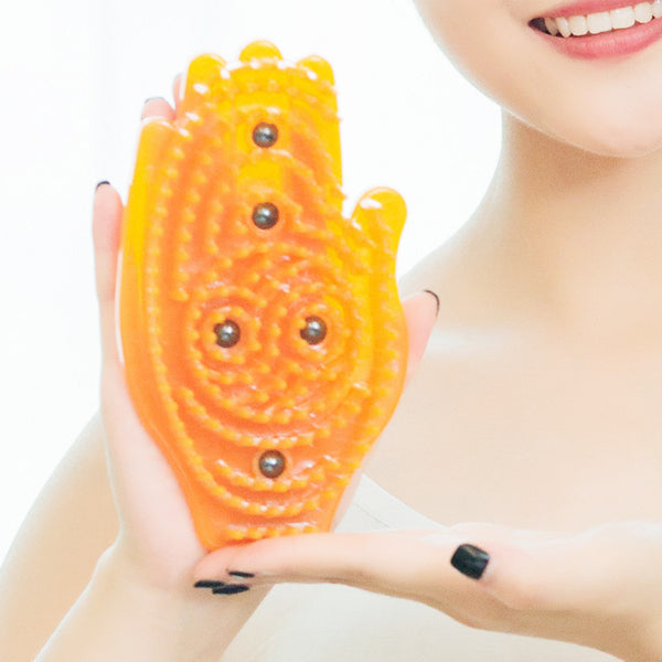 Palm-shaped Magnet Therapy Meridian Massage Slimming Brush