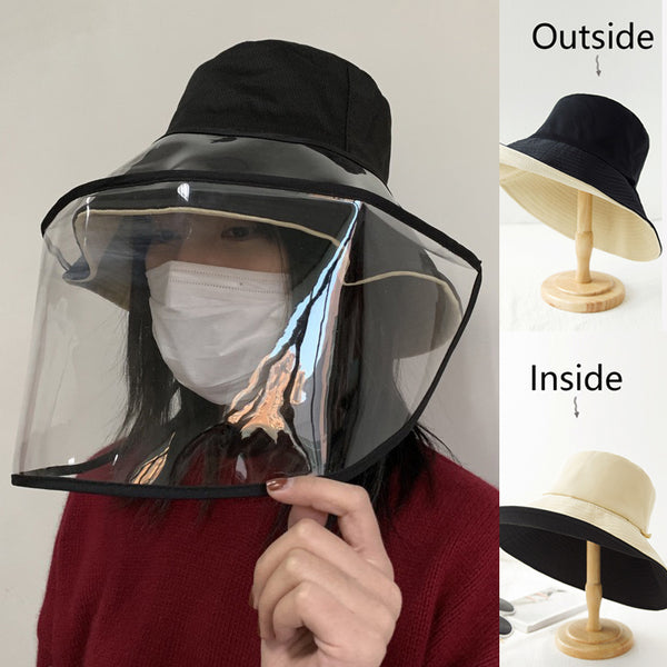 Adult Detachable Prevent Dust Hat Prevent Saliva Hat With Mask