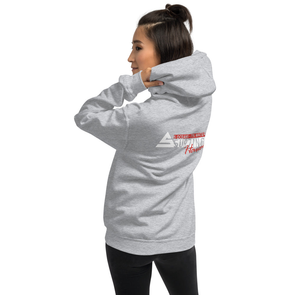 Hawaii Unified Unisex Hoodie - 5UR71NG.com Surfing apparell eco surf california 5 oceans