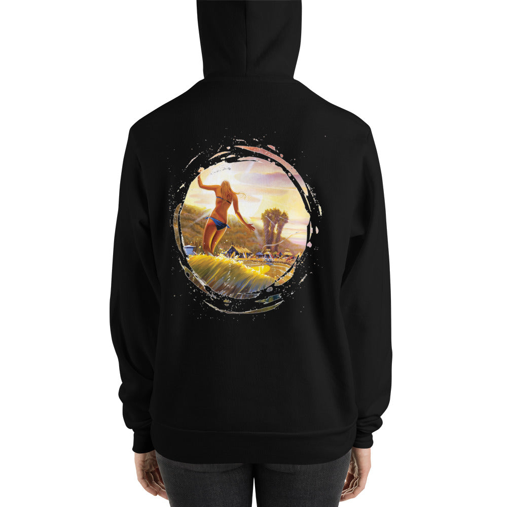 Hanging Style Unisex Hoodie - 5UR71NG.com Surfing apparell eco surf california 5 oceans