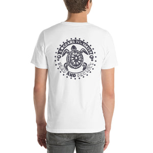 Hawaii Turtle Short-Sleeve Unisex T-Shirt - 5UR71NG.com Surfing apparell eco surf california 5 oceans