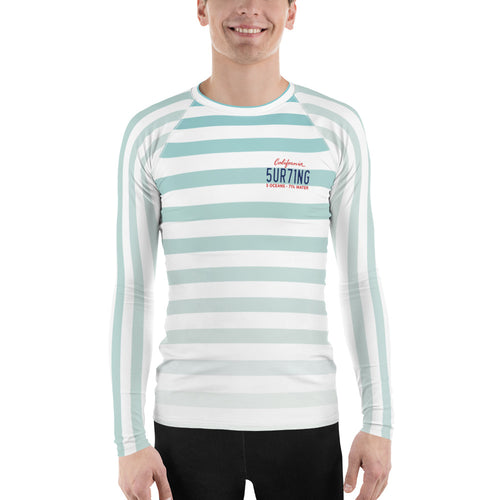 Men's Rash Guard - 5UR71NG.com Surfing apparell eco surf california 5 oceans