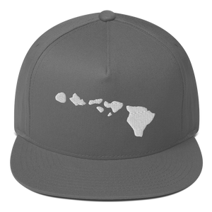 Hawaii Islands Flat Bill Cap - 5UR71NG.com Surfing apparell eco surf california 5 oceans