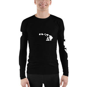 Hawaii 5 Men's Rash Guard - 5UR71NG.com Surfing apparell eco surf california 5 oceans