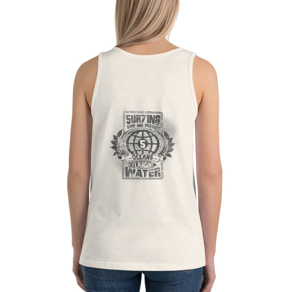 Protect 5 - lights - Unisex Tank Top - 5UR71NG.com Surfing apparell eco surf california 5 oceans