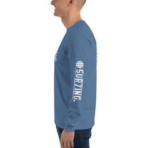 Get Out There Men's Long Sleeve Shirt - 5UR71NG.com Surfing apparell eco surf california 5 oceans