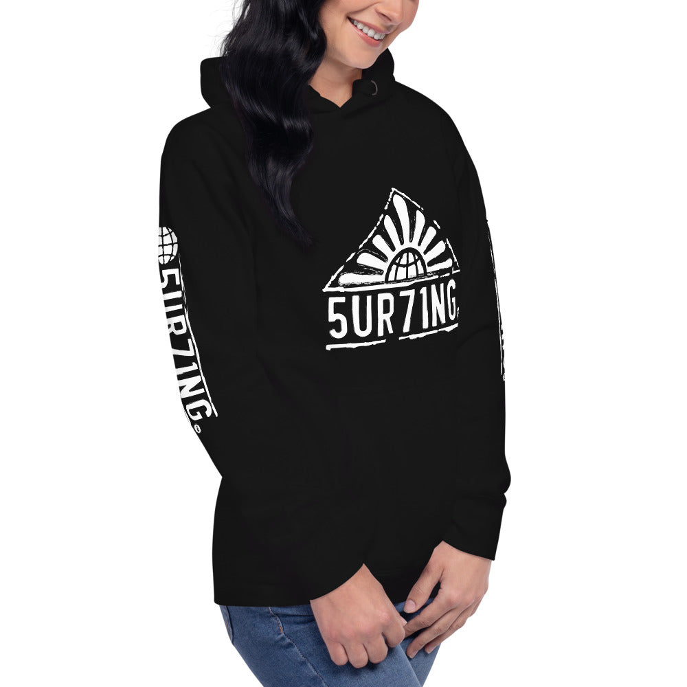 Get Out There Unisex Hoodie - 5UR71NG.com Surfing apparell eco surf california 5 oceans