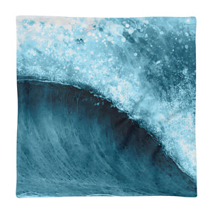 Waverly Empty Blue - Pillow Case - 5UR71NG.com Surfing apparell eco surf california 5 oceans
