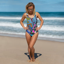 Retro One-Piece Swimsuit - 5UR71NG.com Surfing apparell eco surf california 5 oceans