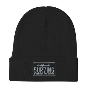 Endless Winter 2020 Embroidered Beanie - 5UR71NG.com Surfing apparell eco surf california 5 oceans