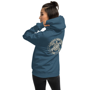 Surf and Protect - colours - Unisex Hoodie - 5UR71NG.com Surfing apparell eco surf california 5 oceans