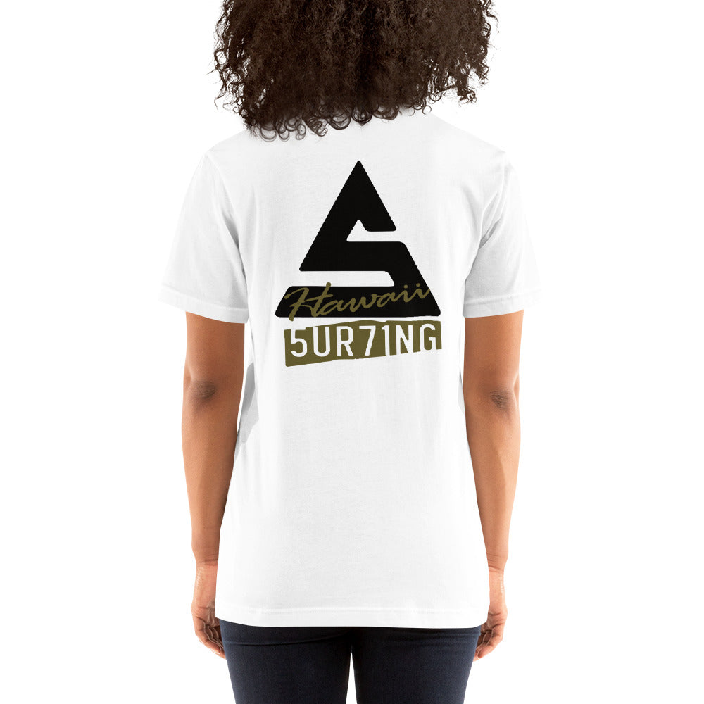 Short-Sleeve Unisex T-Shirt - 5UR71NG.com Surfing apparell eco surf california 5 oceans