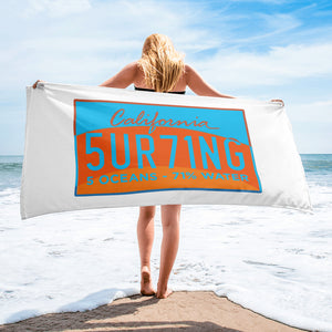 Registration Towel - 5UR71NG.com Surfing apparell eco surf california 5 oceans