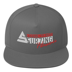 Hawaii Flat Bill Cap - 5UR71NG.com Surfing apparell eco surf california 5 oceans
