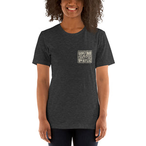 Protect 5 - darks - Short-Sleeve Unisex T-Shirt - 5UR71NG.com Surfing apparell eco surf california 5 oceans