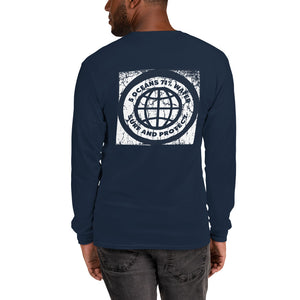 Hawaii Surf and Protect Men's Long Sleeve Shirt - 5UR71NG.com Surfing apparell eco surf california 5 oceans