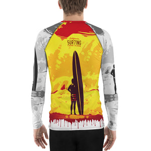 Iconic 60's Men's Rash Guard - 5UR71NG.com Surfing apparell eco surf california 5 oceans