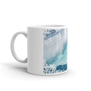 Surfing Coffee Mug - 5UR71NG.com Surfing apparell eco surf california 5 oceans