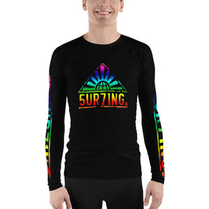 Retro Lumo Men's Rash Guard - 5UR71NG.com Surfing apparell eco surf california 5 oceans