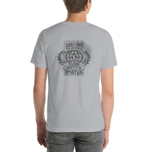 Protect 5 - lights - Short-Sleeve Unisex T-Shirt - 5UR71NG.com Surfing apparell eco surf california 5 oceans