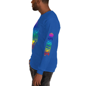 Get Out There Tie Die Men's Long Sleeve Shirt - 5UR71NG.com Surfing apparell eco surf california 5 oceans