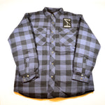 Blue Check Flannel Jacket Shirt