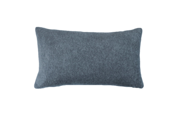 Ethical and eco-friendly organic grey velvet cushion made by former refugees building new lives in New Zealand