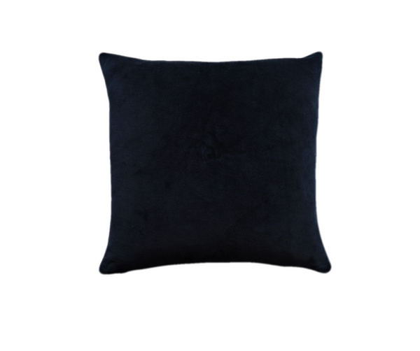 Ethical navy organic velvet square cushion cover made by former refugees building new lives in New Zealand