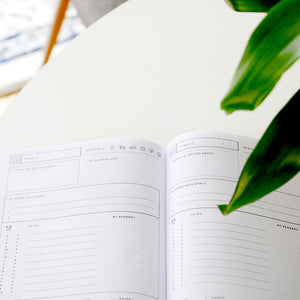 Undated - Blissfully Happy Planner - Dark Flower