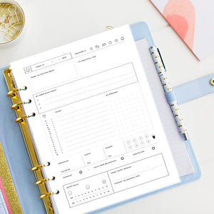 90% off Undated - Blissfully Happy PLanner & Journal - Printable - Use it any time any year as many times as you wish.
