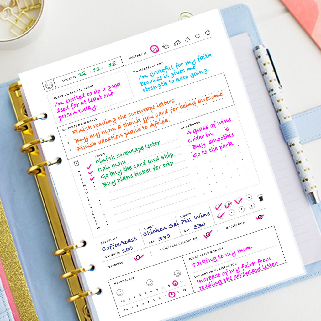Blissfully Happy Planner & Journal - Printable - Undated