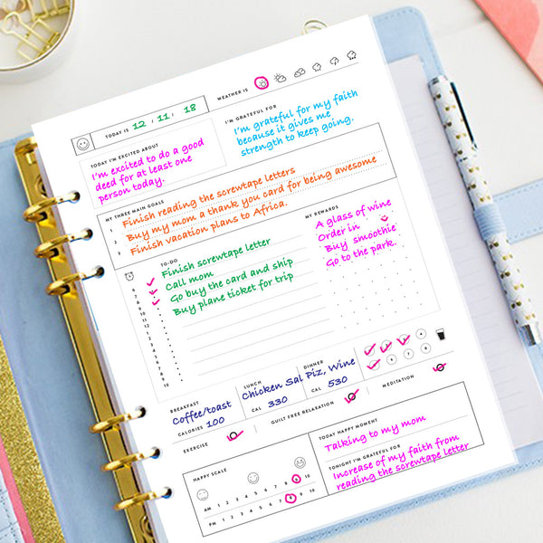blissfully happy planner journal printable use it any time any