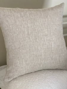 Pure Linen Oatmeal colour Cushion Cover