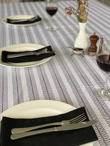 Black Ripple Tablecloth
