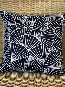 Geometric Fans Dark Navy