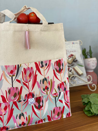 Pretty Proteas Shopping Bag