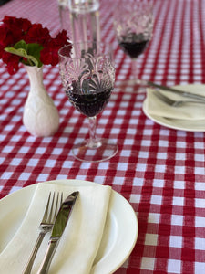 Red Gingham Tablecloth