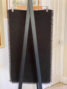 European Linen Table Runner Fringed Black was $49 now $39