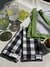 Black Gingham Napkins Large - sold in pairs