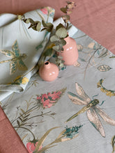 Dragonflies and Floral on Mint Table Runner