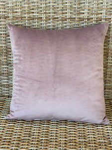 Dusty pink velvet cushion cover