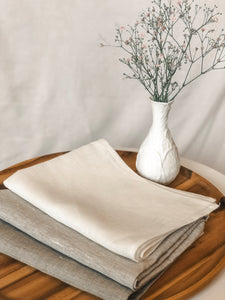 Tea Towel Pure Linen Flax Colour