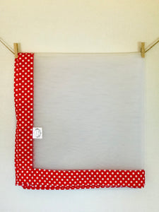 Red and White Polka Dots - Food Cover