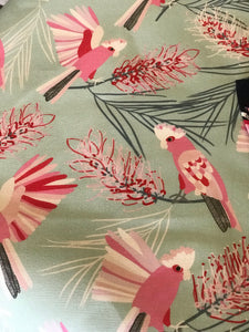 Aqua Gorgeous Galah & Grevillea Tea Towel